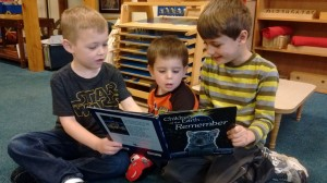 Children's House students reading together