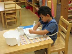 Children's House student working